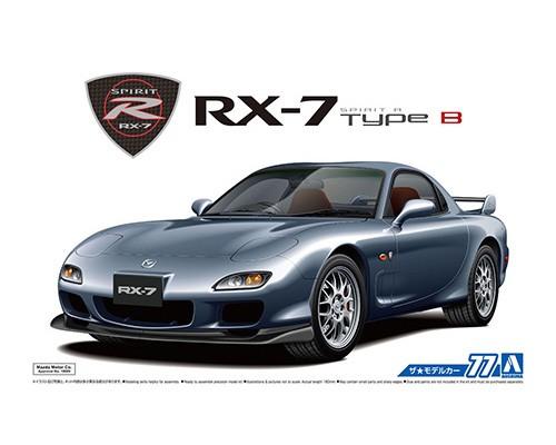 1:24 Scale Aoshima Mazda RX7 FD3S Spirit R Type B 2002 Model Kit #76p