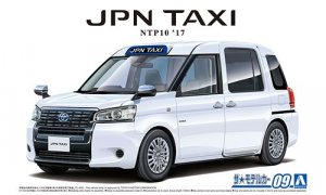 1:24 Scale Aoshima Toyota Japanese Taxi NTP10 Super White II Model Kit #09p