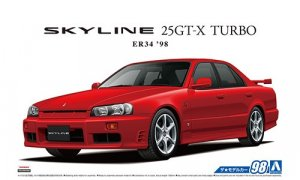 1:24 Scale Aoshima Nissan Skyline GTT ER34 25GT-X 1998 Model Kit #97p