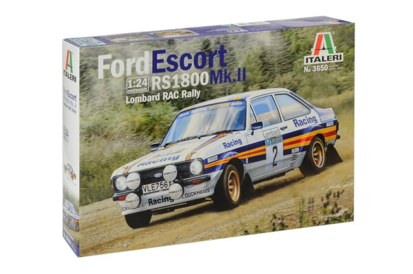 1:24 Scale Italeri Ford Escort Mk2 Rothmans Rally Car Model Kit #1117