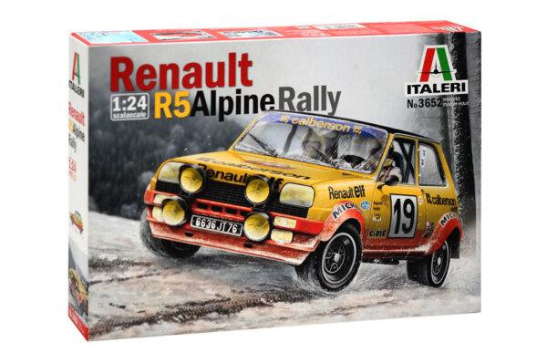 1:24 Scale Italeri Renault 5 Rally / Race Car Model Kit #1120