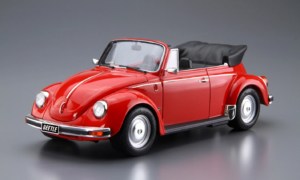 1:24 Scale Aoshima VW Volkswagen Beetle 1303S Super Beetle Cabriolet Convertible Model Kit #74p