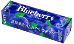 JDM Blueberry Chewing Gum Lotte Brand, 9 Sticks Pack #1130