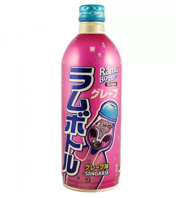 JDM Grape Flavour ' Ramu ' Fizzy Drink 500ml #1150