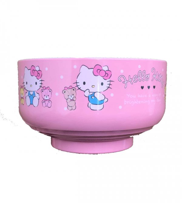 JDM Hello Kitty Plastic Bowl Dot Pattern #1159