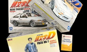 Initial D BUNDLE DEAL 3x 1:32 Scale Model Kits+Glue #427/28/30/1116 ** GREAT STOCKING FILLER **