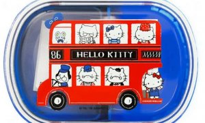 Hello Kitty Bento Lunchbox With Clips #1127