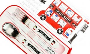Hello Kitty Lunch Box - London Design Trio Cutlery Set #1126