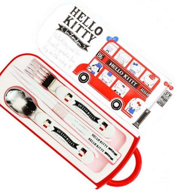 Hello Kitty Lunch Box - London Design Trio Cutlery Set #1126