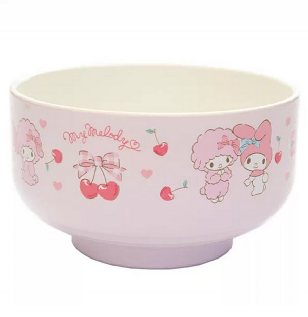 JDM My Melody Miso Soup Bowl Pink Berry Pattern #1160