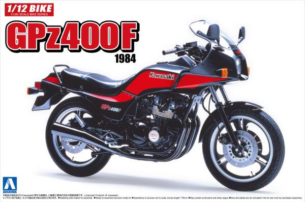 1:12 Scale Aoshima Kawasaki GPZ400F Model Kit #386