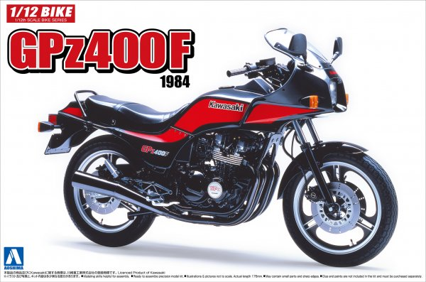 1:12 Scale Kawasaki GPZ400F Model Kit #386