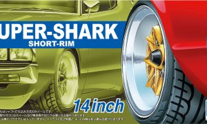 1:24 Scale Suiper Shark 14'' Wheel Accessory Set Model Kit #294