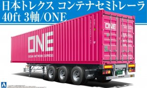 1:32 Scale Nippon Trex ONE Pink 40 foot Container Trailer *NEW* #1185