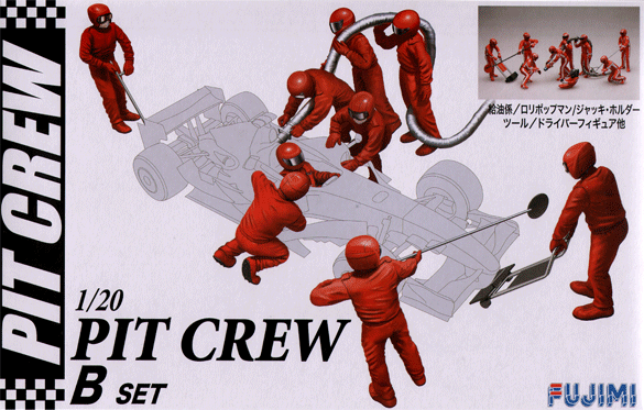 1:20 Scale Fujimi F1 Style Pit Crew Model Kit #901p