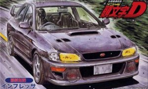 1:24 Scale Initial D Subaru Impreza Takumi WRX STI Type R Model Kit #1019