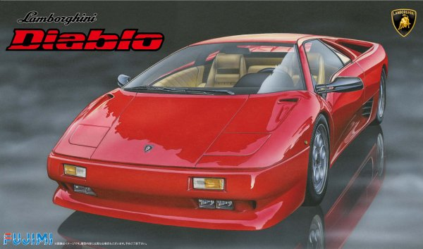 1:24 Scale Fujimi Lamborghini Diablo Model Kit #828p