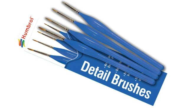 Humbrol Detail Blue Brush Pack For Use With All Paints #1181