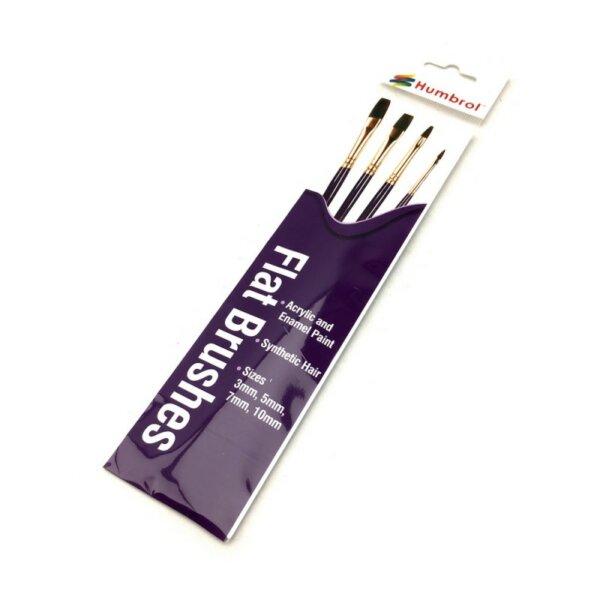 Humbrol Brush Set -Flat Brushes pack PURPLE #1179