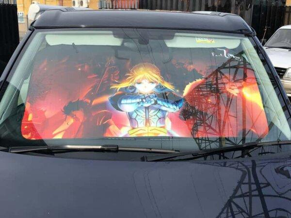 Vehicle SunVisor - Full Size For All Cars Angel Beats! Ver. #1113