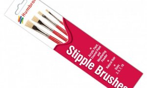 Humbrol Brush Set - Stipple [ flat ] Brushes #1179