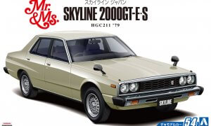 1:24 Scale Nissan Skyline 2000 GT-E S HGC211 1979 Model Kit #53A