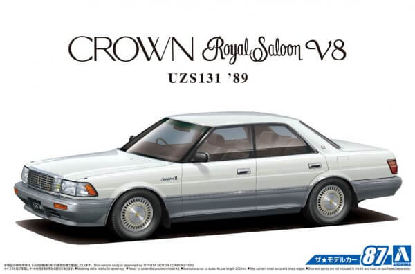 1:24 Scale Aoshima Toyota Crown V8 Royal Saloon G 1989 UZS131 Model Kit #86p