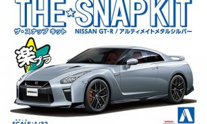 1:32 Scale Aoshima Nissan GTR R35 Snap Together Kit PERFECT FOR KIDS No Glue! #1219