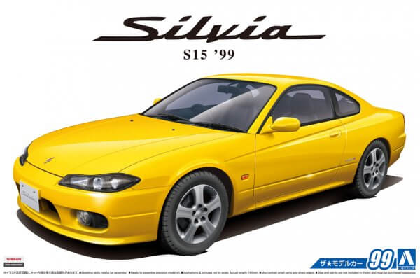 1:24 Scale Aoshima Nissan Silvia S15 Spec R 1999 Model Kit #98p