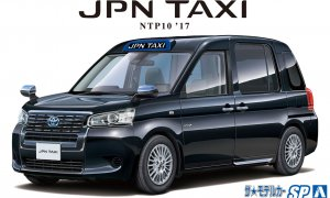 1:24 Scale Aoshima Toyota NTP10 Japanese Taxi BLACK 2017 Model Kit #120p