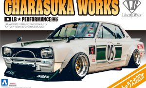 1:24 Scale Aoshima Liberty Walk LB Works Nissan Charasuka 2dr Model Kit #331