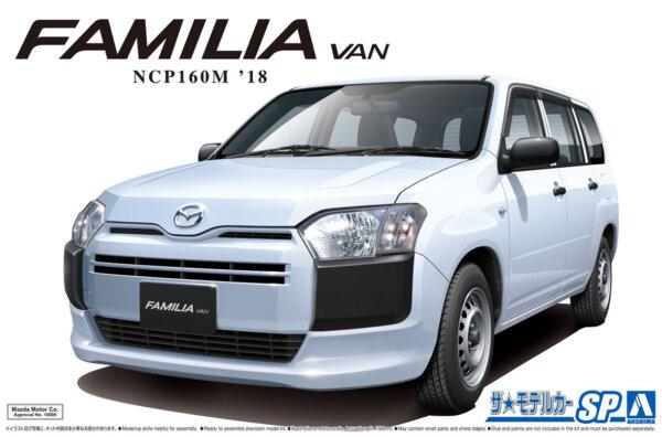 1:24 Scale Aoshima Mazda Familia Van 2018 NCP160M Model Kit #1212p