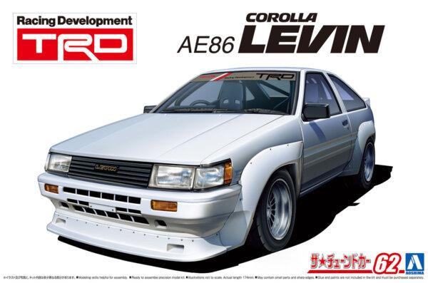 1:24 Scale Toyota AE86 Corolla Levin TRD 1983 Model Kit #1215p