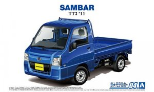 1:24 Scale Aoshima Subaru Sambar WR Blue Ltd Model Kit #1209p