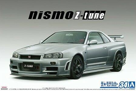 1:24 Scale Aoshima Nissan Skyline R34 GTR NISMO Z Tune 2004 Model Kit #1214p