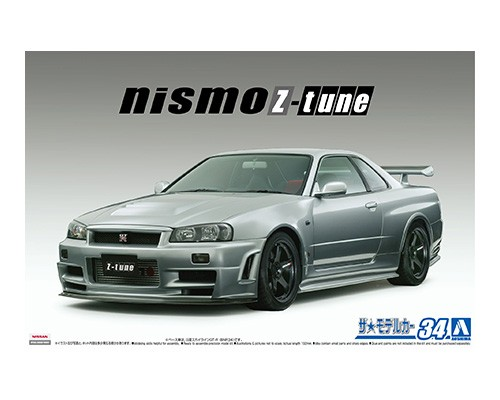 1:24 Scale Aoshima Nissan Skyline R34 GTR NISMO Z Tune 2004 Model Kit #1214p
