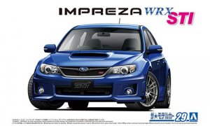 1:24 Scale Subaru Impreza WRX STI 2010 Model Kit #1211p