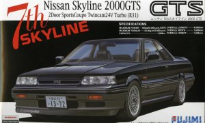 1:24 Scale Nissan Skyline R31 GTS 2000 Model Kit #703