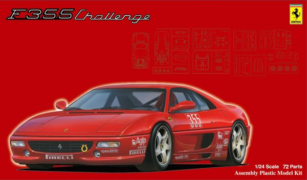 1:24 Scale Fujimi Ferrari F355 Challenge With Window Frame Masks Model Kit #874p