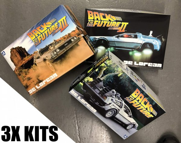 1:24 Scale Aoshima SAVING BUNDLE Back To The Future - All 3 Kits #437/8/9P