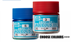 Mr Hobby AQUEOUS Range Paint Pots 10ml - Choose Colours