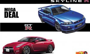 2x GTR Mega Deal R34 + R35 Bundle 1:24 Scale #03 #08