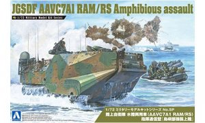 1:72 Scale JGSDF Amphibious Assault Vehicle AAVC7A1 RAM/RS with Boat Model Kit #1301