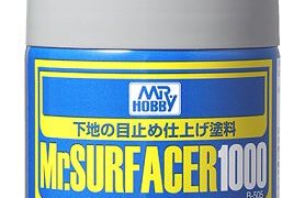 Mr Hobby Mr Surfacer 1000 Primer Spray Can for Painting #2092