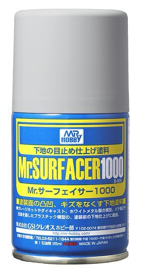 Mr Hobby Mr Surfacer 1000 Primer Spray Can for Painting #2092
