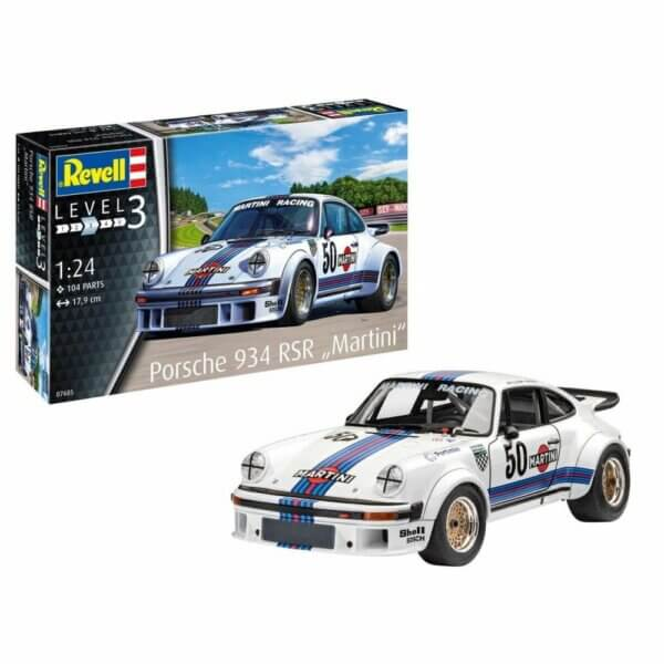 1:24 Scale Revell Porsche 934 911 RSR Martini Version Model Car Kit #1265P