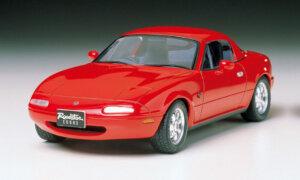 1:24 Scale Tamiya Mazda MX5 Eunos Roadster Mk1 Model Kit #1231