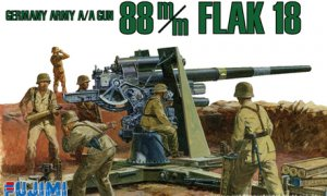 1:76 Scale German 88mm Anti Tank Gun #1396p