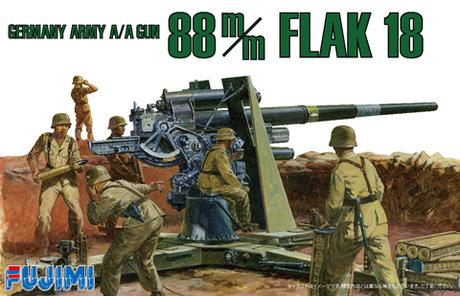 1:76 Scale German 88mm Anti Tank Gun #1396p