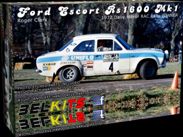 1:24 Scale Belkits Ford Fiesta WRC Rally Car Model Kit #1250P